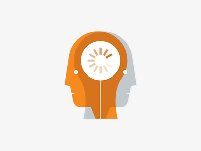 Developer Thinking illustration thinking mind loading vector head developer programmer