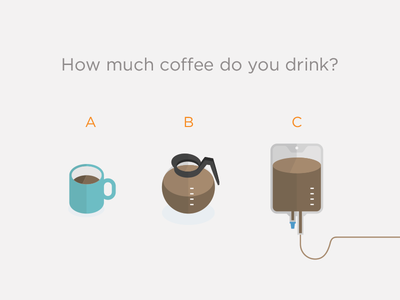 Survey says... coffee mug pot iv survey drink illustration