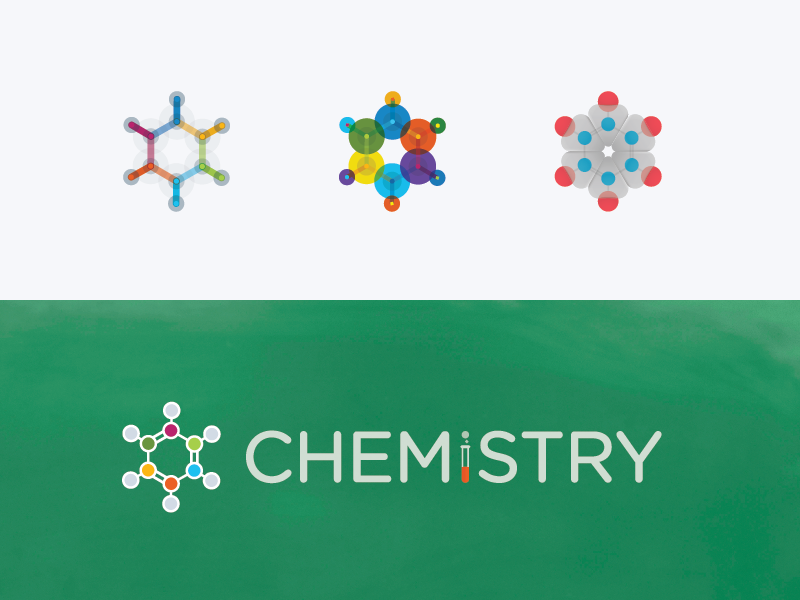 Chemistry Logo Evolution stack exchange chemistry atom benzene molecule logo illustration chalk