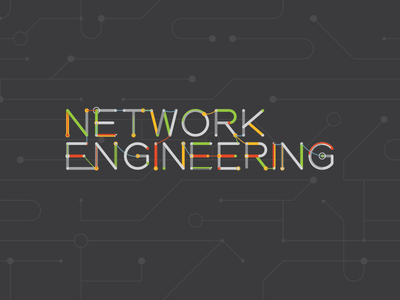 Network Engineering - Reversed network engineering logo cables computer vector