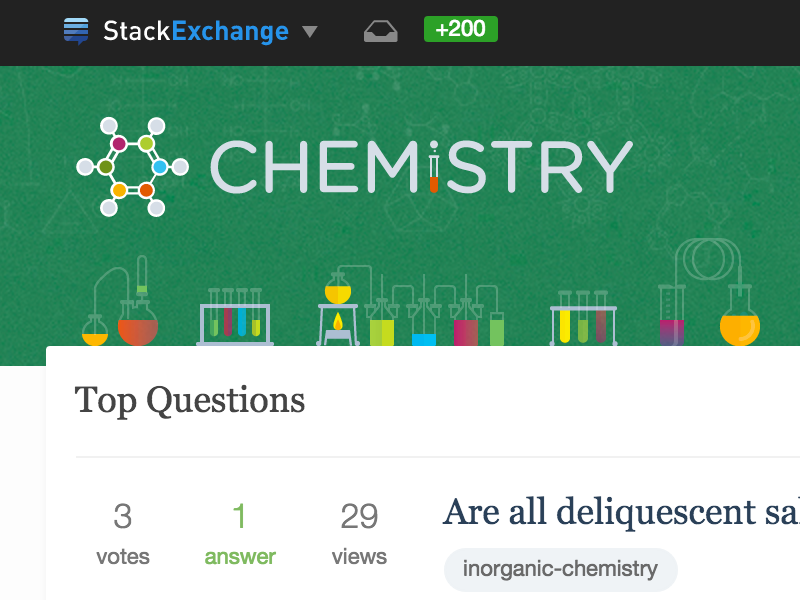 Chemistry Site Design illustration chemicals glassware benzene molecule logo stack exchange chemistry website design site