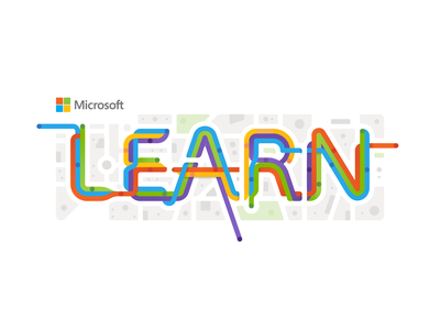 Microsoft Learn typography branding design logo vector illustration microsoft