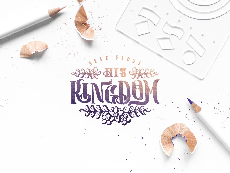 Matthew 6:33 (Color Pencil Lettering) color pencil calligraphy jesus verse lettering bible verse digital calligraphy color pencil brush script brush pen typography type lettering lettering composition hand-lettering calligraphy brush calligraphy