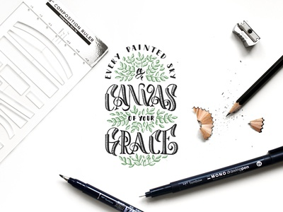 Canvas of Grace Lyric Lettering