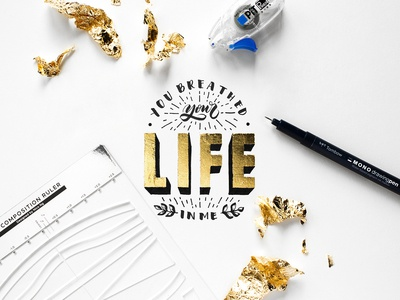You Breathed Your Life In Me Lyric Lettering
