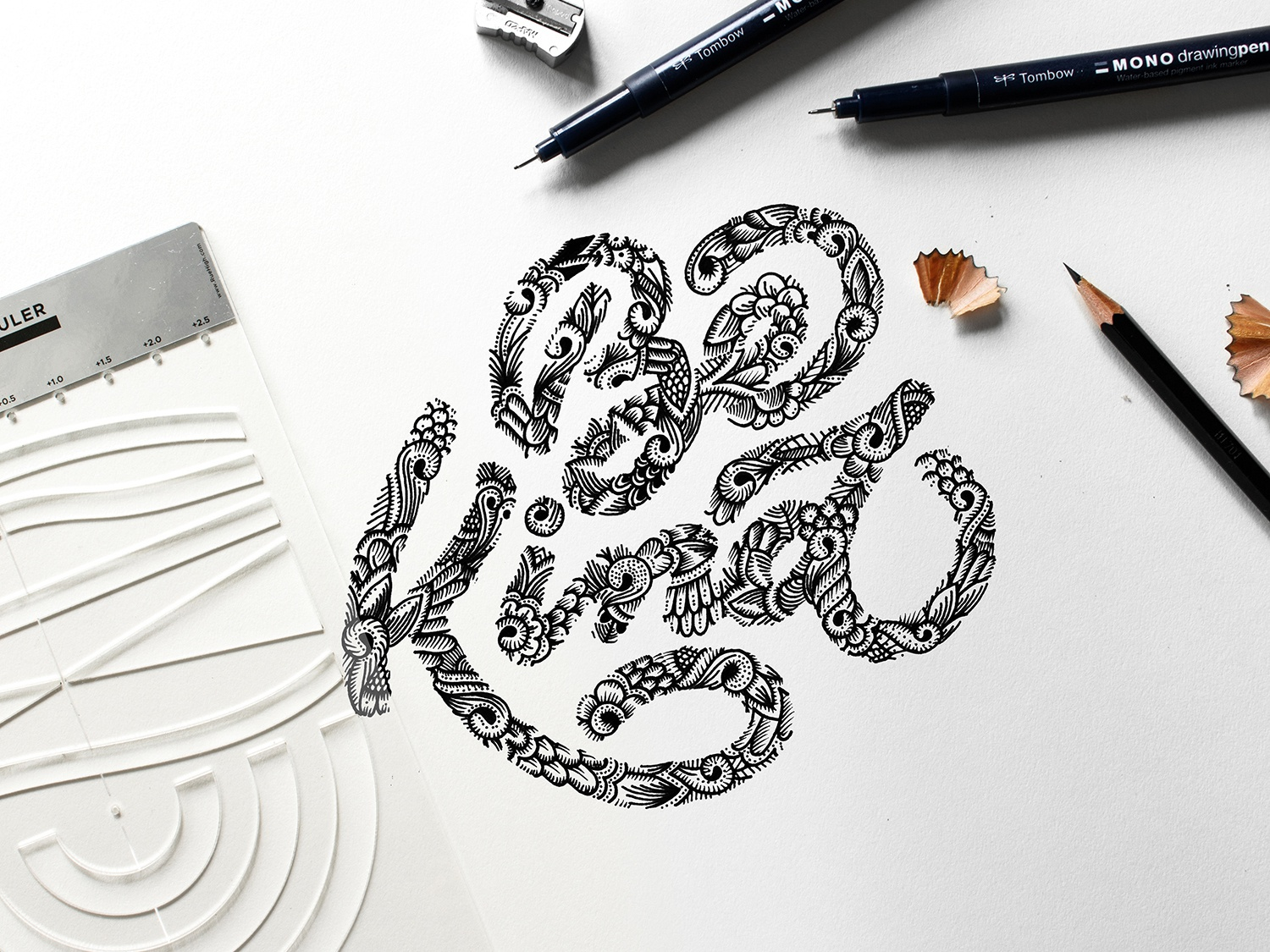 Be Kind illustration design lettering composition calligraphy typography type lettering hand-lettering