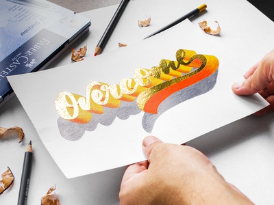 Overcome (3D Gold Lettering)