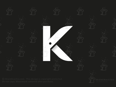 Letter K Scissors (for sale) beauty negative space logo for sale logo typography character initial knives haircut sharp razor blade cutting barber hairdresser hairdressing blades scissors