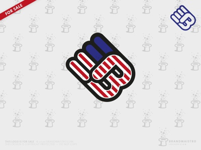Monogram Letter B Logo Black Lifes Matters (For sale) inequality demonstration activists human rights racism police violence resistance unite solidarity power initial boxing protest america american flag hand clenched fist logo for sale