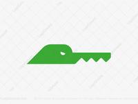 Furious Key Alligator / Crocodile Logo