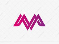 Twisted Letter M Logo