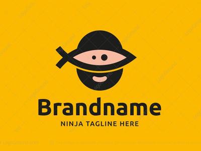 Ninja with Fish Mask Logo