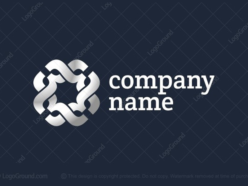 Intertwined Curly Brackets Logo punctuation mark bracket grouping parts text mathematical formulas letter x cross braces writer writing typography interwoven platinum metallic swirly mustache connecting silver logo for sale logo