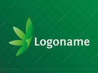 Cannabis Folded Leaf Logo