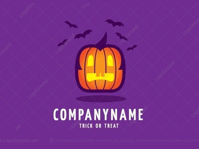 Scary Halloween Pumpkin Logo