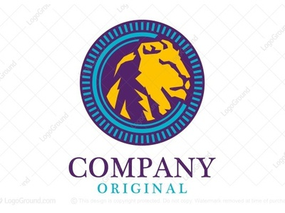 Stately Lion Logo luxurious animal protection security power wild life africa african beast nature jungle head face mane king mountain lion predator lion logo logo for sale
