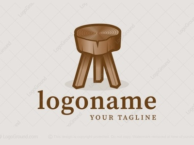Wooden Stool Logo