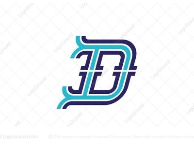 Outlined Letter D Logo (for sale)
