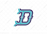 Outlined Letter D Logo (for sale)
