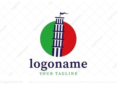 Italian Pisa Tower Logo (for sale)
