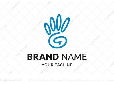 High Five Letter G Logo (for sale)
