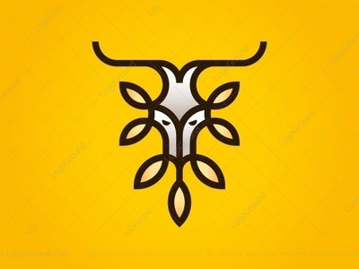 Natural Deer Leaves Logo