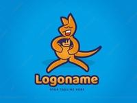 Kangaroo With Baby Logoground