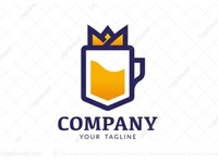 Royal Beer Glass Logo (for sale)