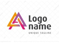 Abstract Letter A Triangle Logo (for sale)