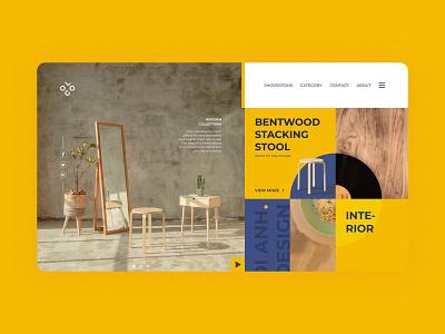 Mondrian layout minimal khoianh interface design clean uidesign ui
