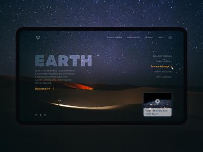 UI challenge - Day 1 - Earth creativetribe khoianh interface design uidesign ui