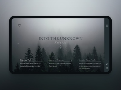 UI Challenge - Day 5 - Into The Unknown challenge clean khoianh interface design uidesign ui