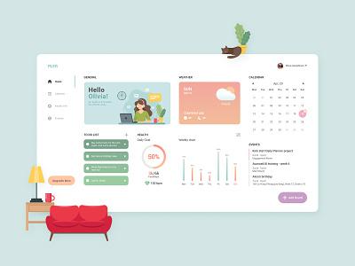 Daily Planner - Dashboard pastel dashboad creativetribe minimal clean khoianh design uidesign ui