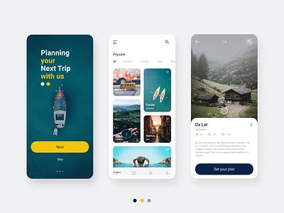 Travel Planning App khoianh creativetribe minimal clean design uidesign ui