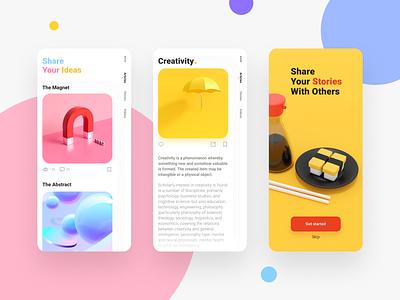 Magazine Mobile Concept khoianh minimal creativetribe clean uidesign ui design
