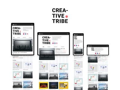 Creative Tribe Showcase Page Concept creativetribe interface uidesign ui khoianh design