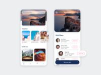 TravelBuds app concept concept mobile app mobile ui interface uidesign ui design