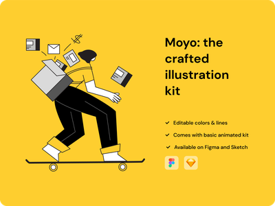 Moyo: illustration freebie kit vector clean illustration minimal creativetribe design khoianh