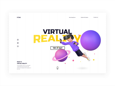 VR Experience interface animation minimal clean creativetribe uidesign ui design khoianh