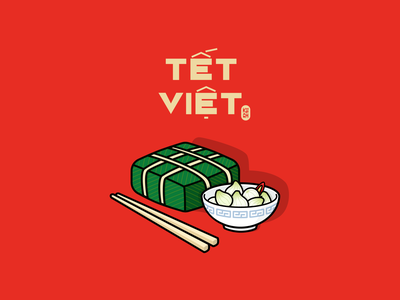 Tet Holiday creativetribe khoianh happy new year hanh muoi banh chung tet lunar new year lunarnewyear illustraion
