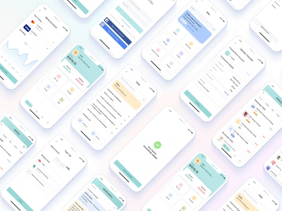 E-wallet Mobile UI kit minimal clean interface uidesign creativetribe design khoianh