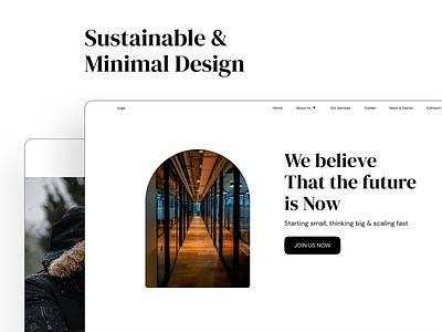(Freebie) Company Website Concept minimal clean interface creativetribe ui uidesign design khoianh