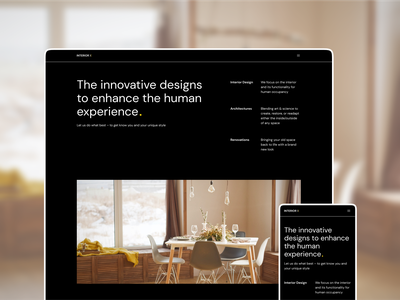 Interior-X website concept design interface creativetribe ui uidesign design khoianh