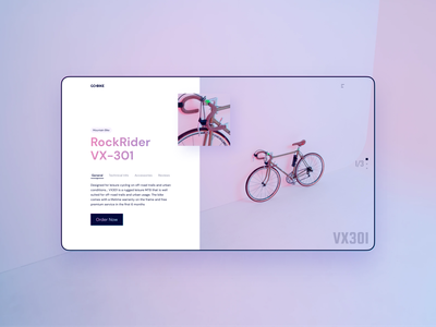 GO-Bike website minimal interface ui uidesign design khoianh