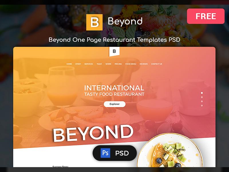 Beyond Multi Purpose Free Restaurant PSD Templates templates xd figma sketch photoshop psd freebies free