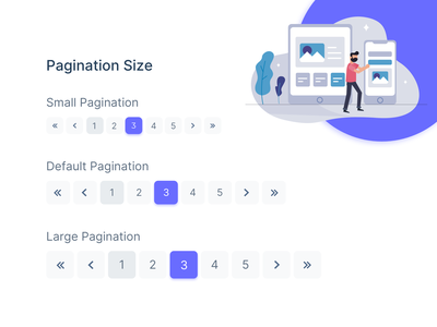 Pagination Component Design sneat widget uikit uiux ui xd sketch figma freebies illustration dashboard ui admin theme design admin dashboard free bootstrap admin