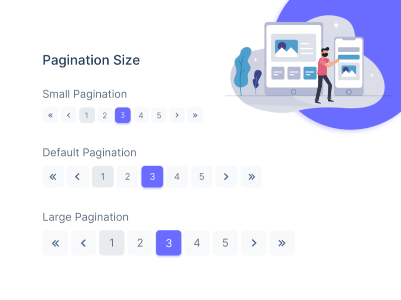 Pagination Component Design widget uikit uiux ui xd sketch figma freebies illustration dashboard ui admin theme design admin dashboard free bootstrap admin