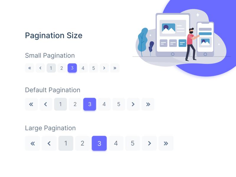 Pagination Component Design widget uikit uiux ui xd sketch figma freebies illustration dashboard ui admin theme design admin dashboard free bootstrap admin