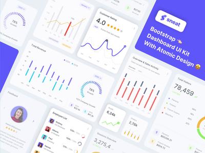 Sneat Dashboard UI Kit 😍😍😍 dashboad responsive admin theme figma sketch uiux bootstrap dashboard uikit dashboard ui admin dashboard bootstrap admin