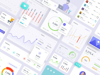 Sneat Clean & Minimal Dashboard UI Kit Widgets 👈 atomic design elements widget admin template admin theme xd dailyui uiux ui dashboad uikit figma dashboard ui sketch bootstrap admin